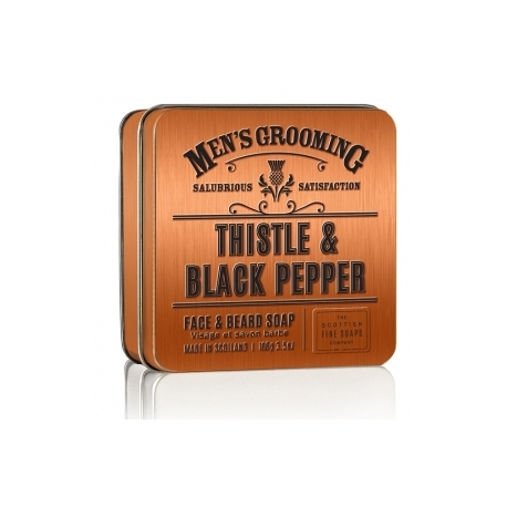 Scottish Fine Soaps Thistle and Black Pepper mýdlo na vousy